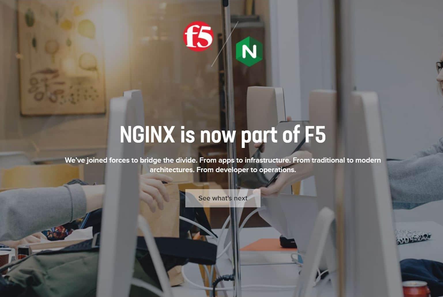 NGINX Inc è stato acquisito da F5 Networks