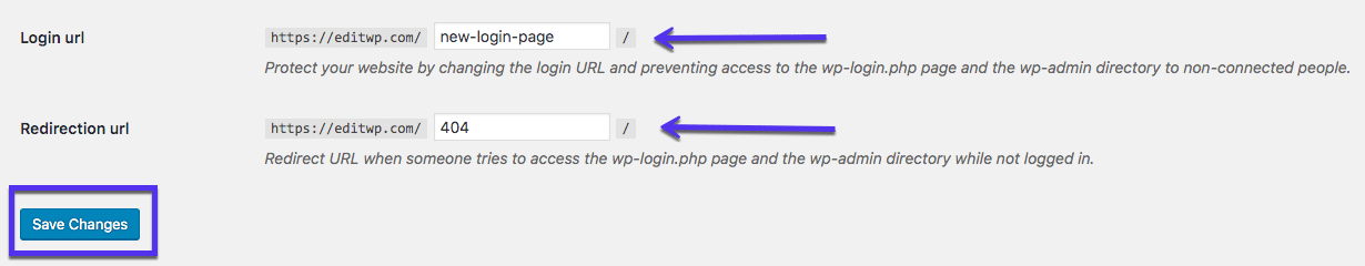 Il plugin WPS Hide Login