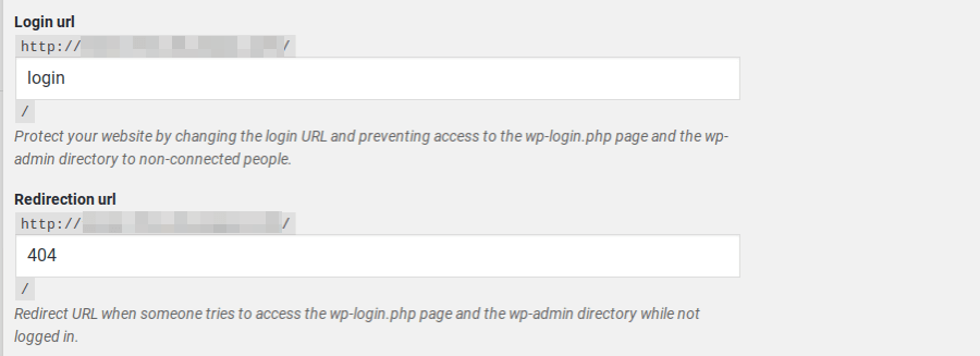 Cambiare l'URL di login