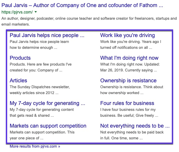 I deep link nei sitelink di Google