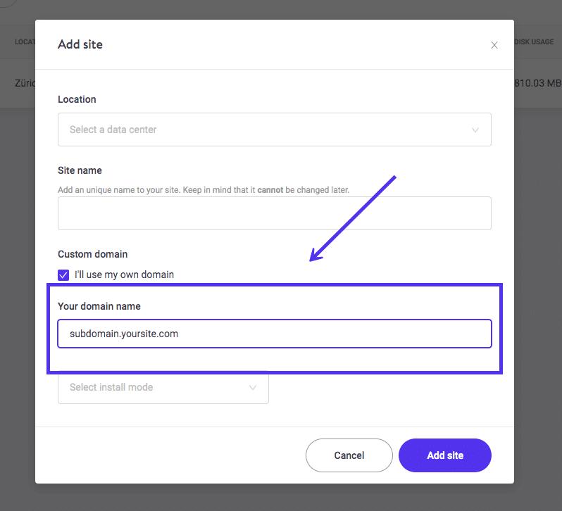 Come installare WordPress su un sottodominio su Kinsta