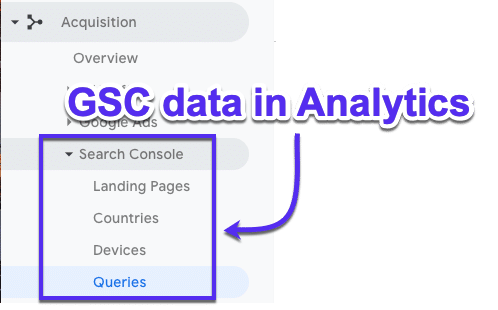Come vedere i dati di GSC in Google Analytics
