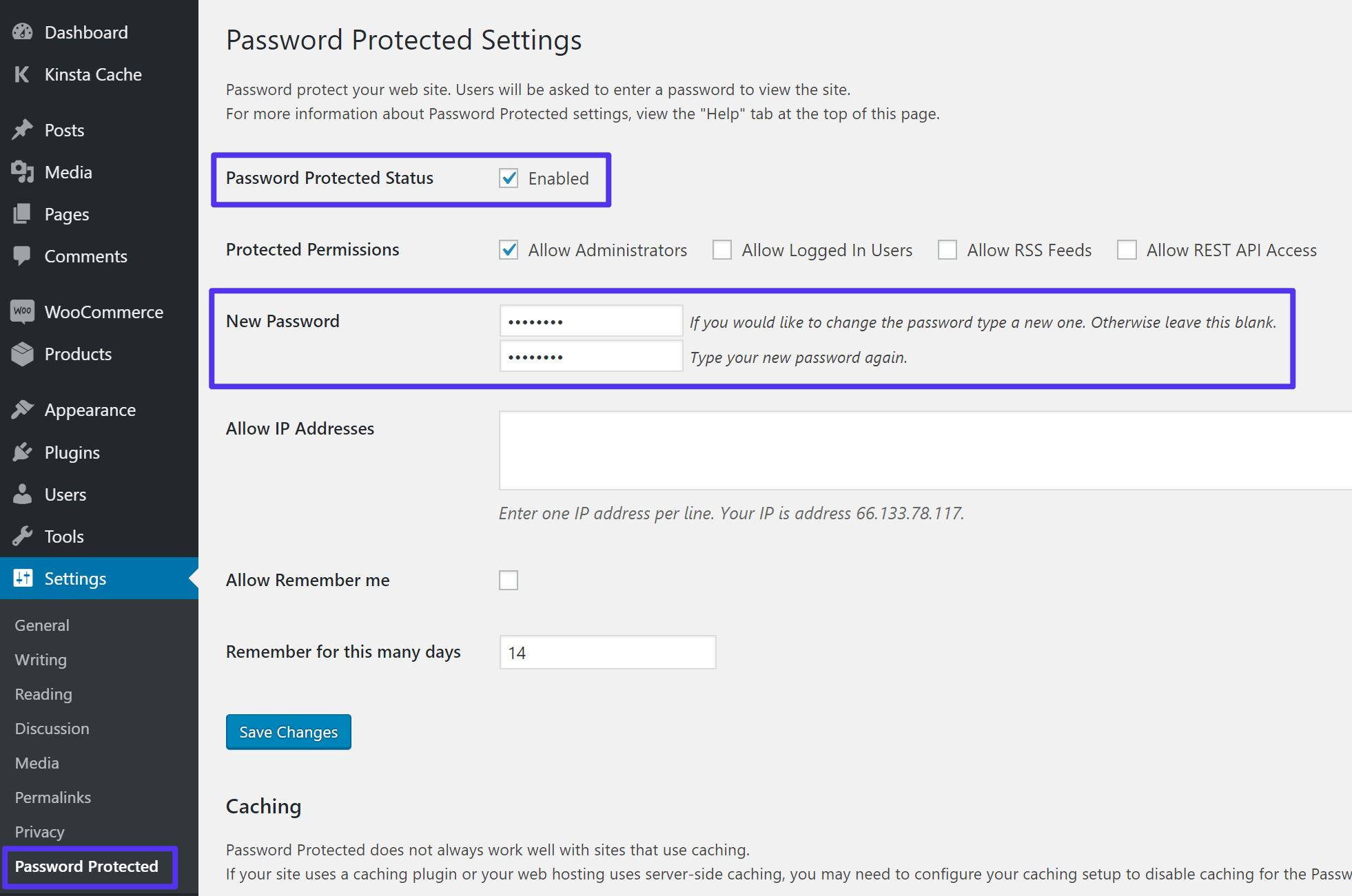 Come proteggere con password l'intero sito WordPress