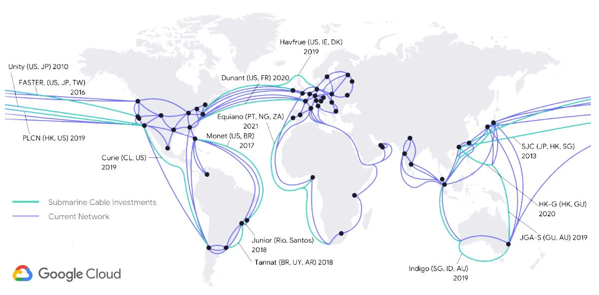 Google's Cloud Network Cable Infrastructure