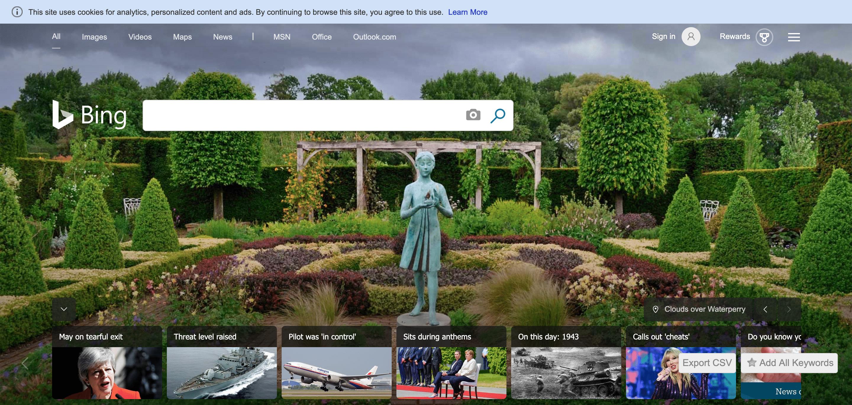 Motori di ricerca alternativi: Bing