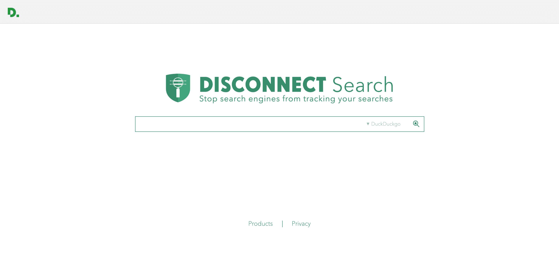 Il motore di ricerca Disconnect Search