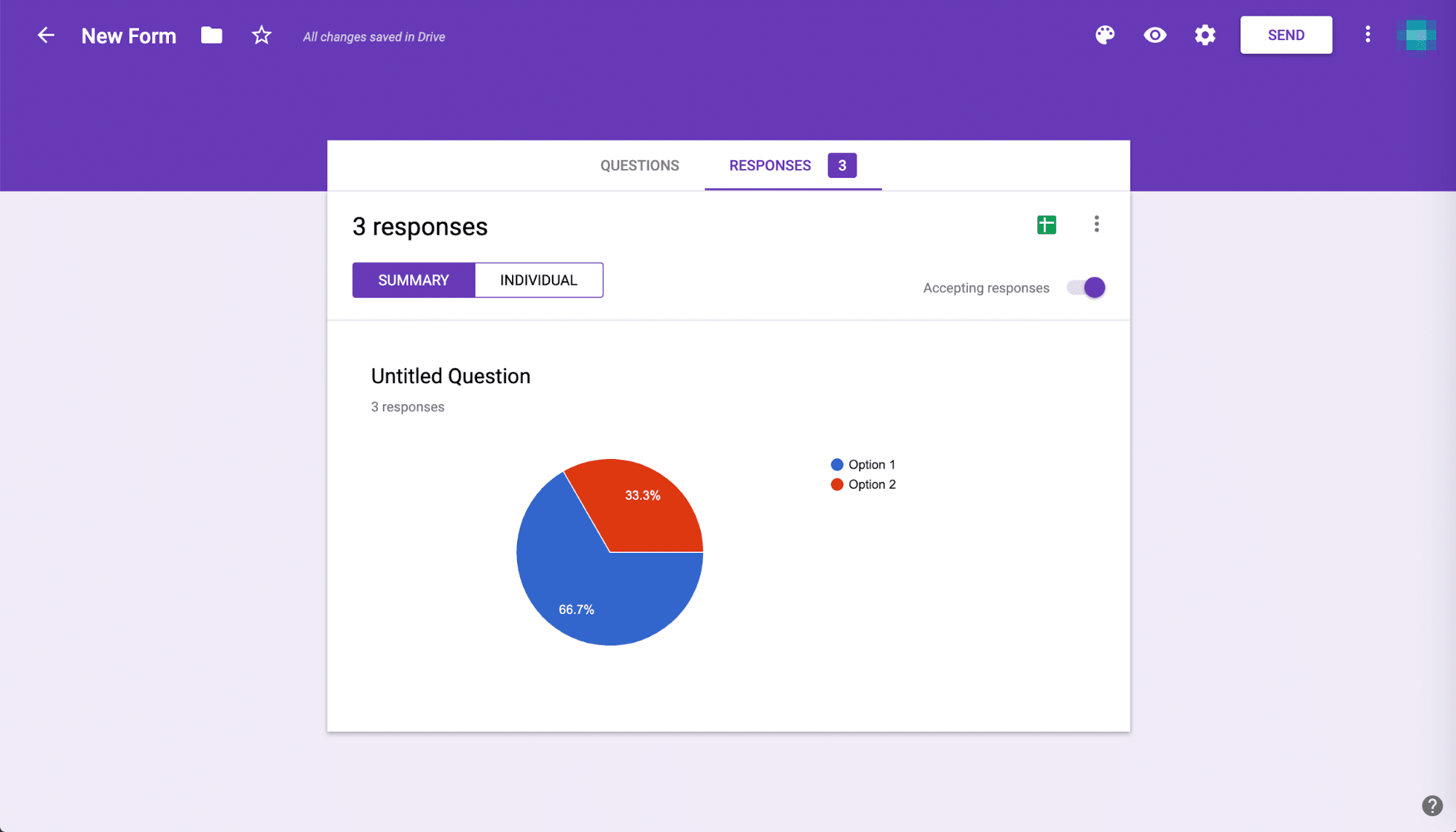 Risposte su Google Forms