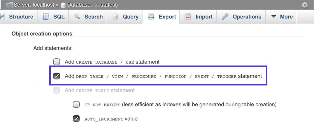 È possibile scegliere il metodo di esportazione personalizzato.