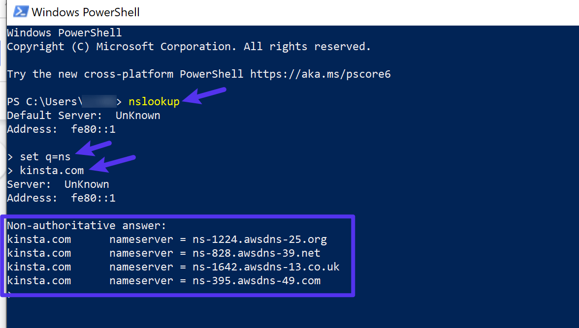 Come verificare i server dei nomi con Windows PowerShell