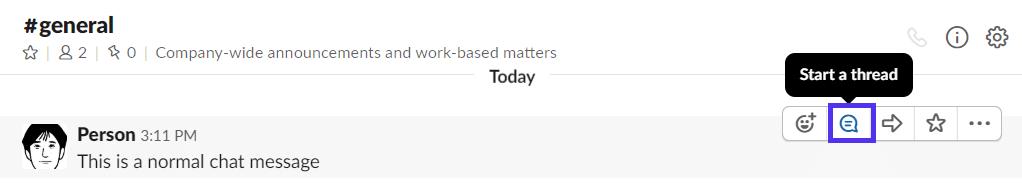 Discussioni in Slack