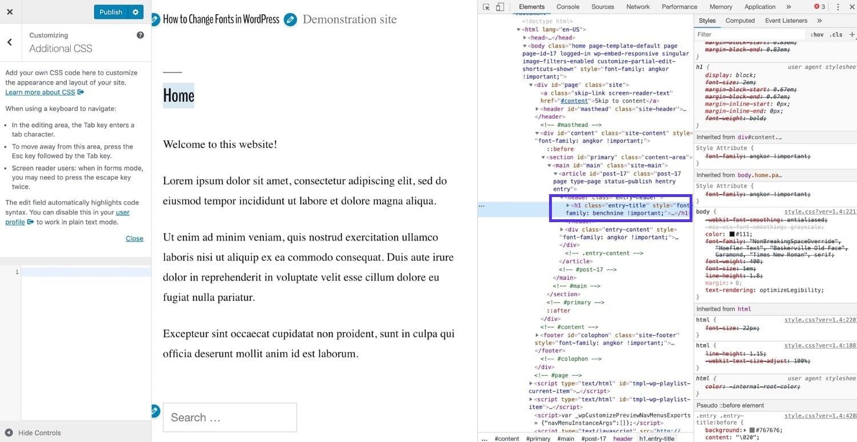 Ispezionare il codice in Chrome