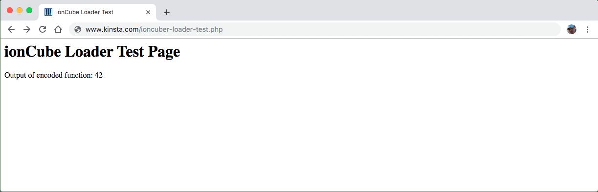Test del file PHP grezzo ioncube