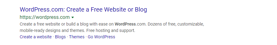 Meta description di WordPress.com