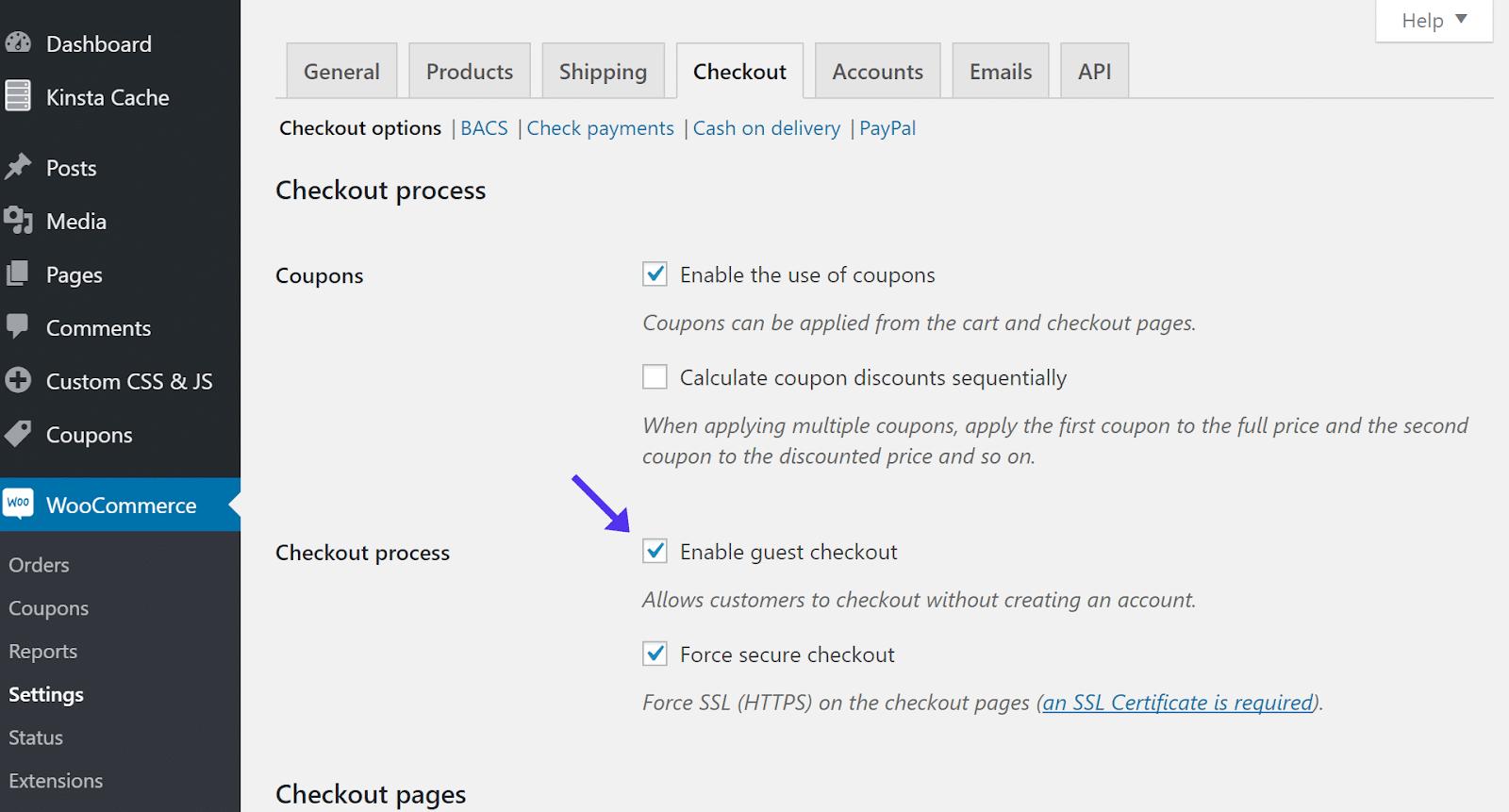 Easy Digital Downloads consente di selezionare automaticamente il checkout degli ospiti