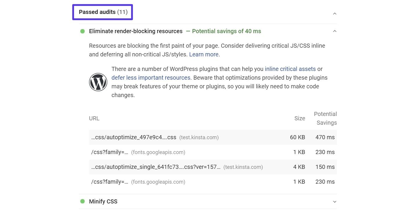 Risultati PageSpeed Insights con Autoptimize e Async JavaScript