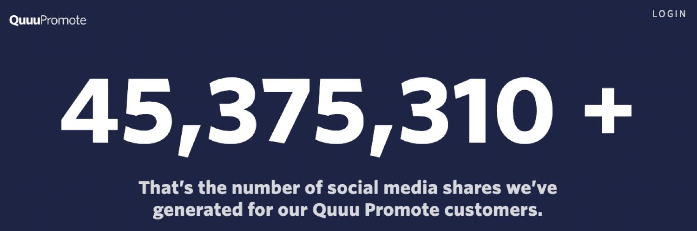 Quuuu Promote può aiutarvi a generare molte azioni social