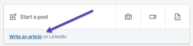 """La funzione """"Scrivi un articolo"""" su LinkedIn"""