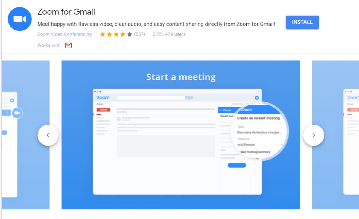 Zoom per Gmail