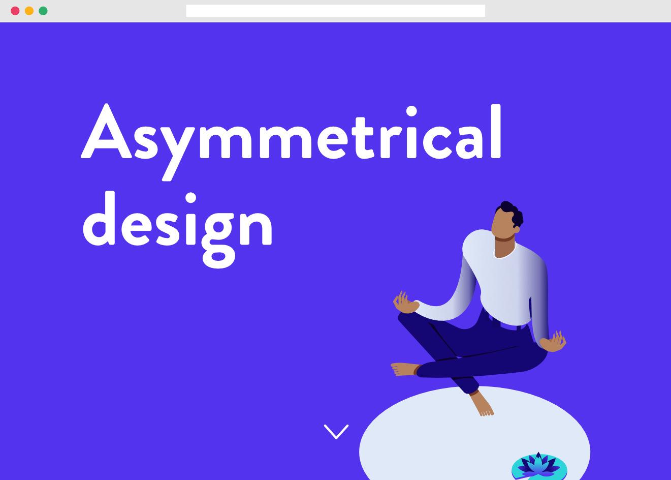 Esempio di layout asimmetrico