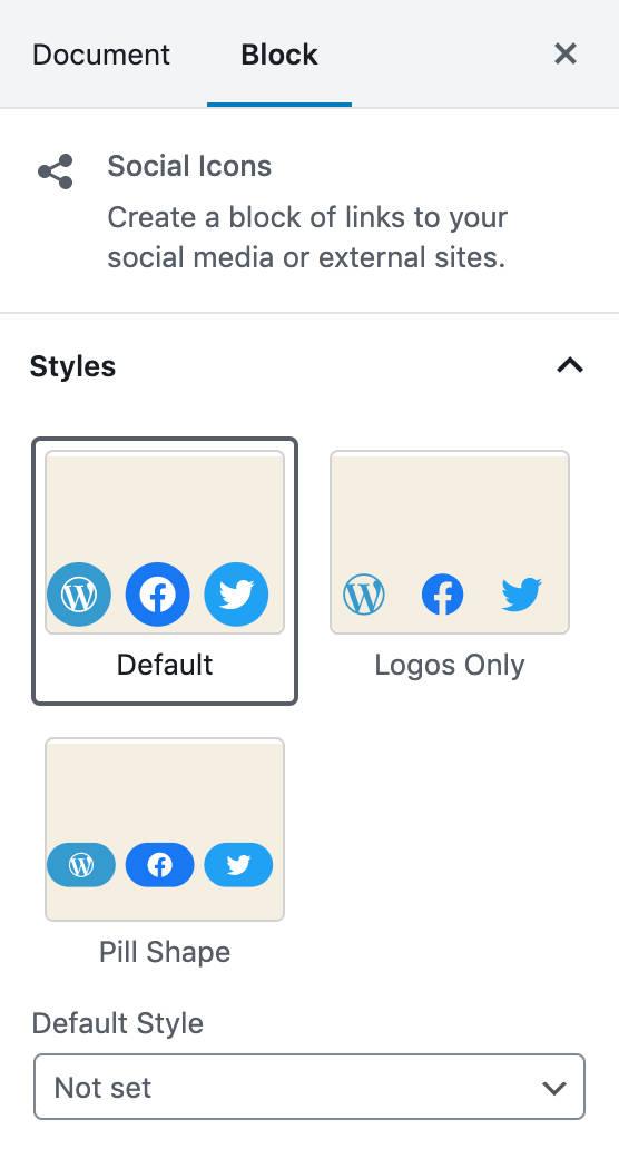 Stili di Social Icons