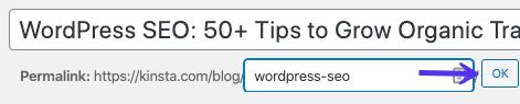 Modificare lo slug del vostro articolo