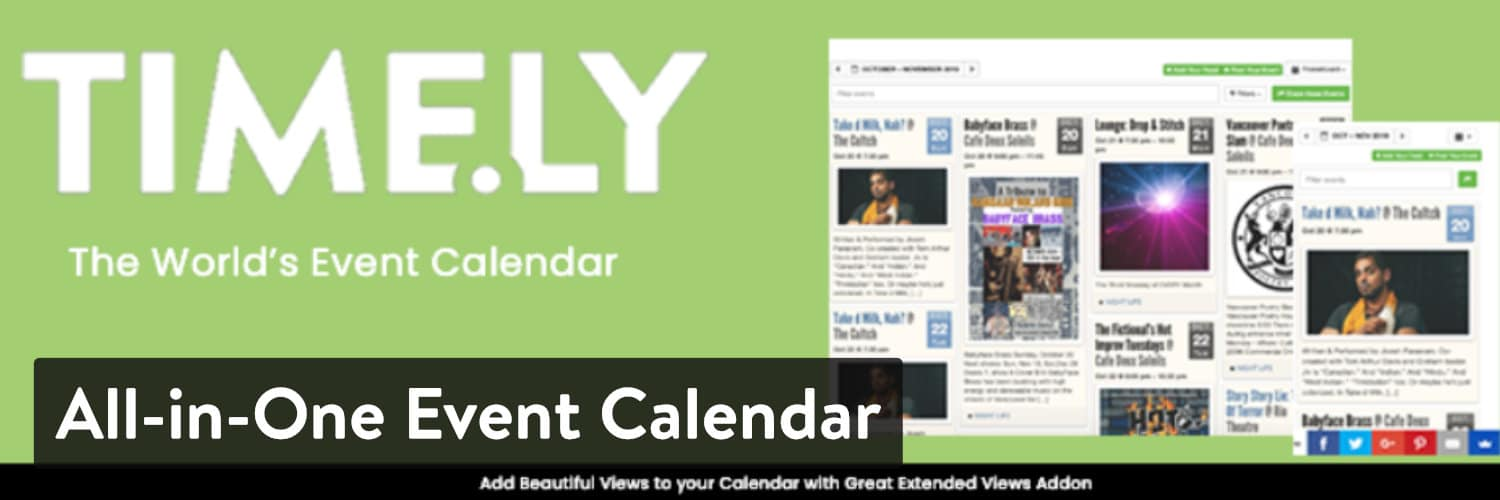 Plugin All-in-One Event Calendar WordPress