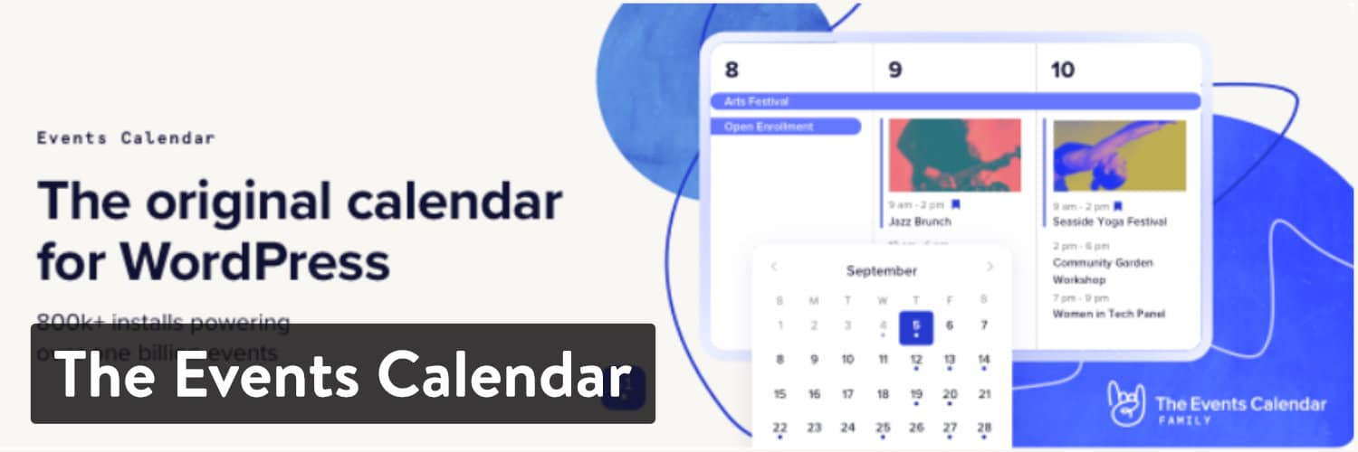 Plugin Events Calendar WordPress