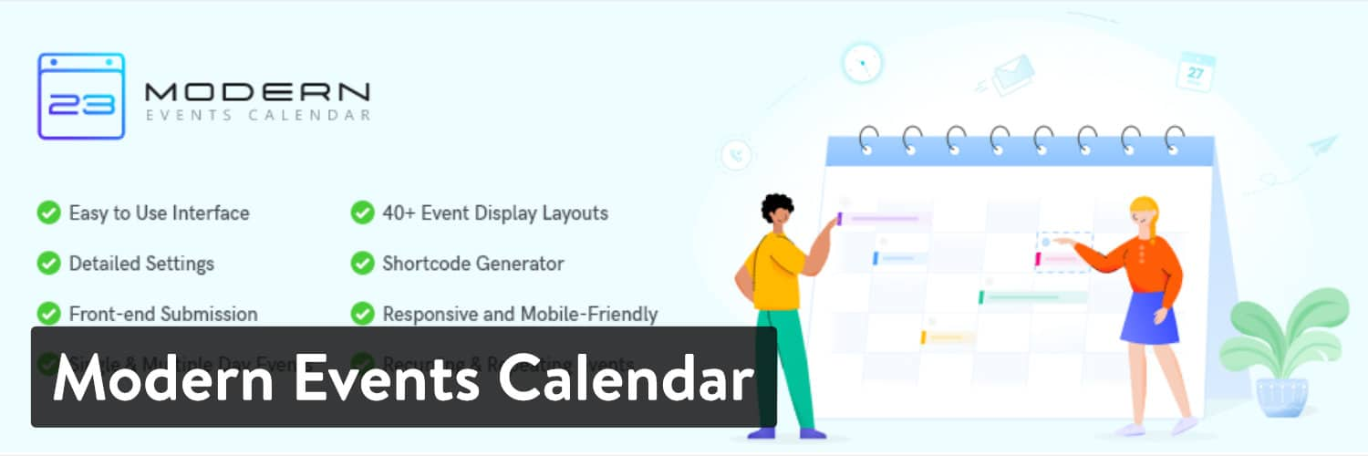 Plugin Modern Events Calendar WordPress