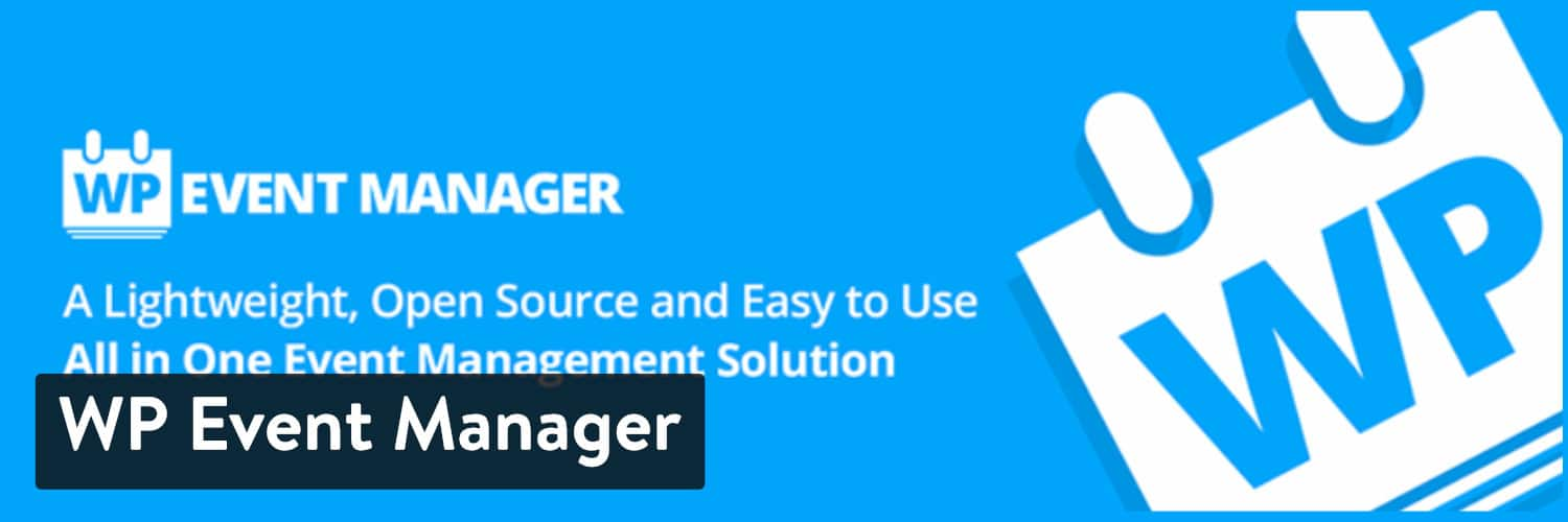 Plugin WP Event Manager WordPress