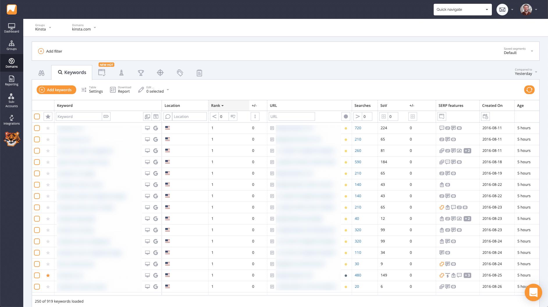 Monitorare il posizionamento delle parole chiave con AccuRanker