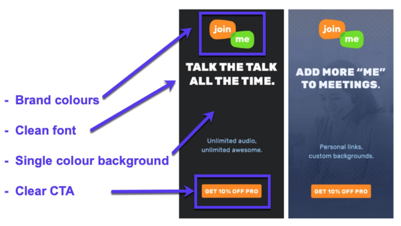 Design semplice ed efficace per banner pubblicitari