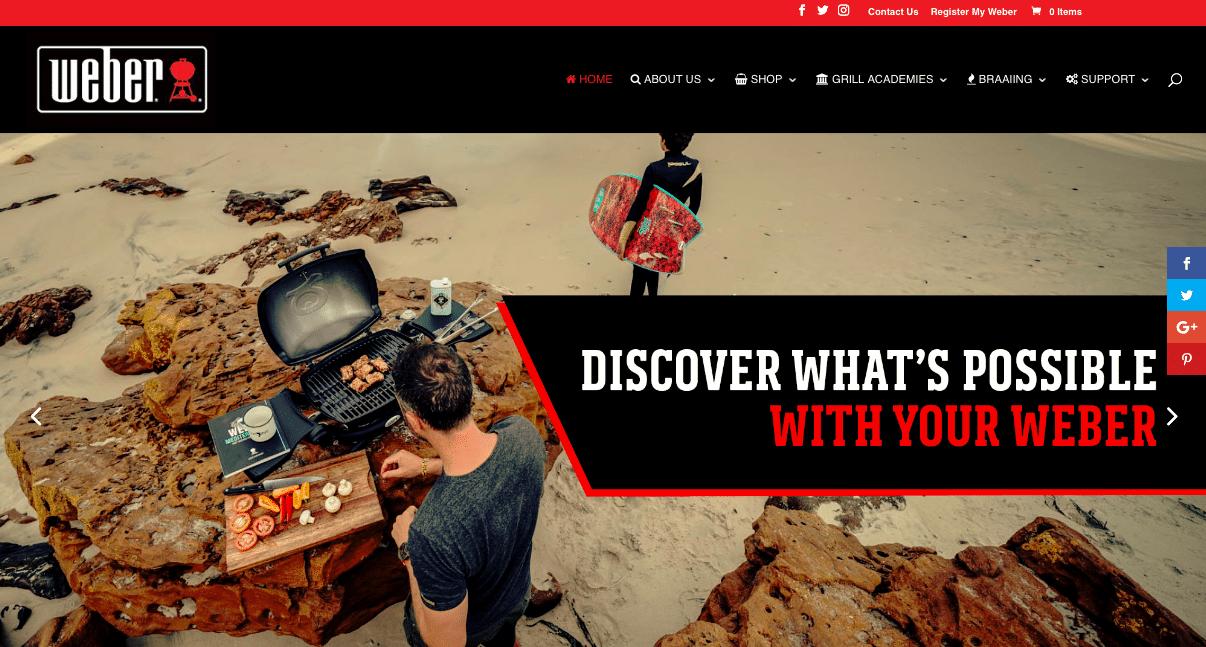 Weber, la filiale sudafricana del famoso produttore di grigliatrici