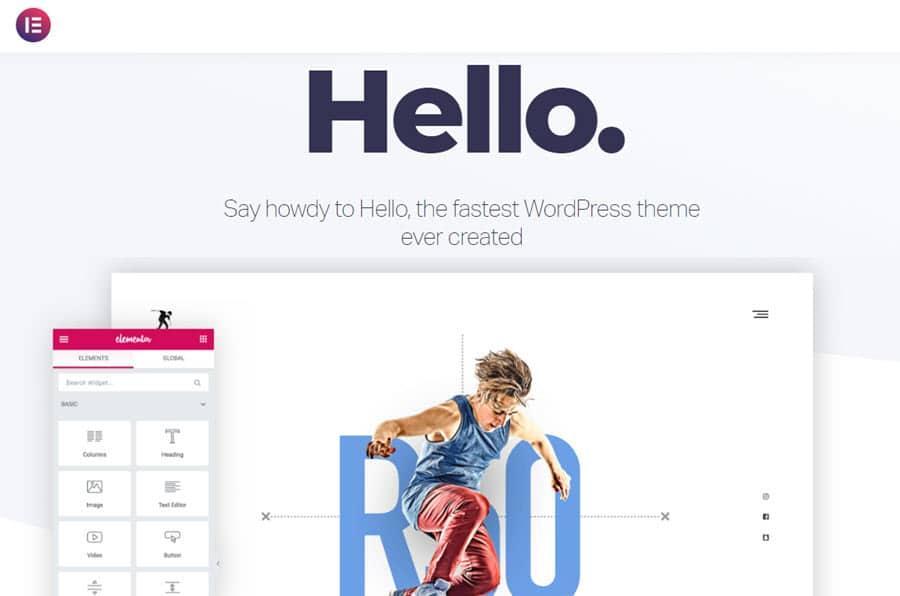 Hello Elementor - fastest WordPress theme