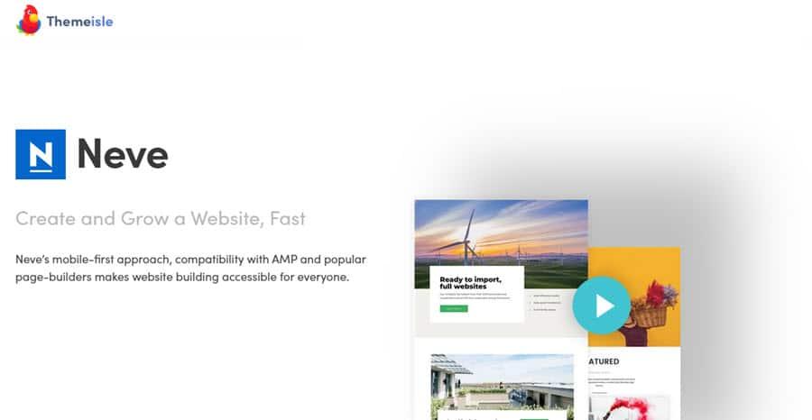 Il tema WordPress Neve