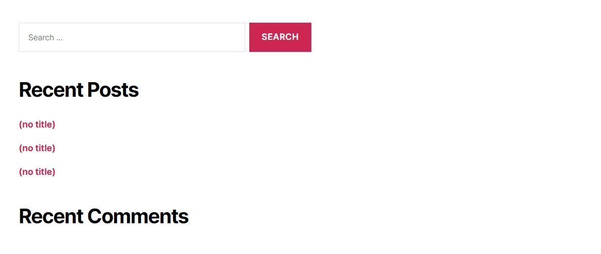 Esempi di assenza di titoli in un widget