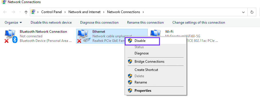 Disabilitare le connessioni secondarie in Windows
