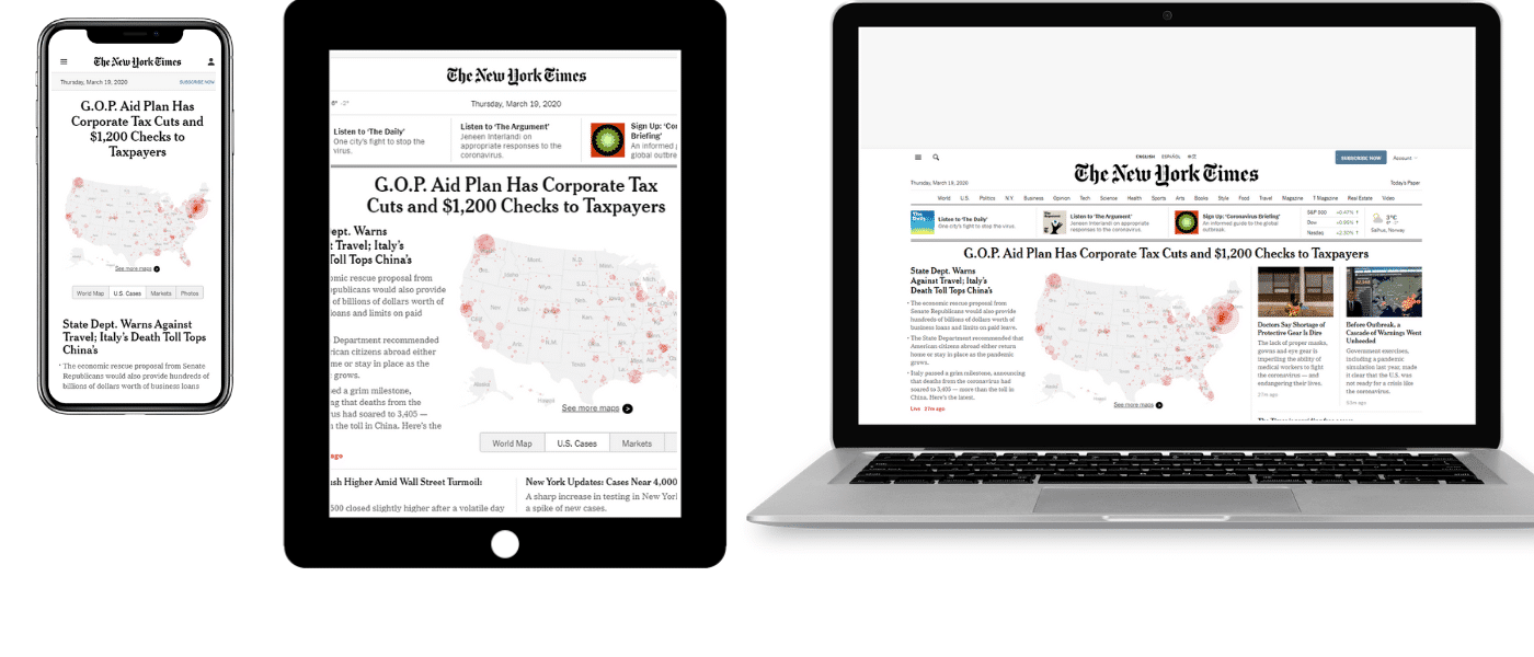 NYT su cellulare, tablet e laptop