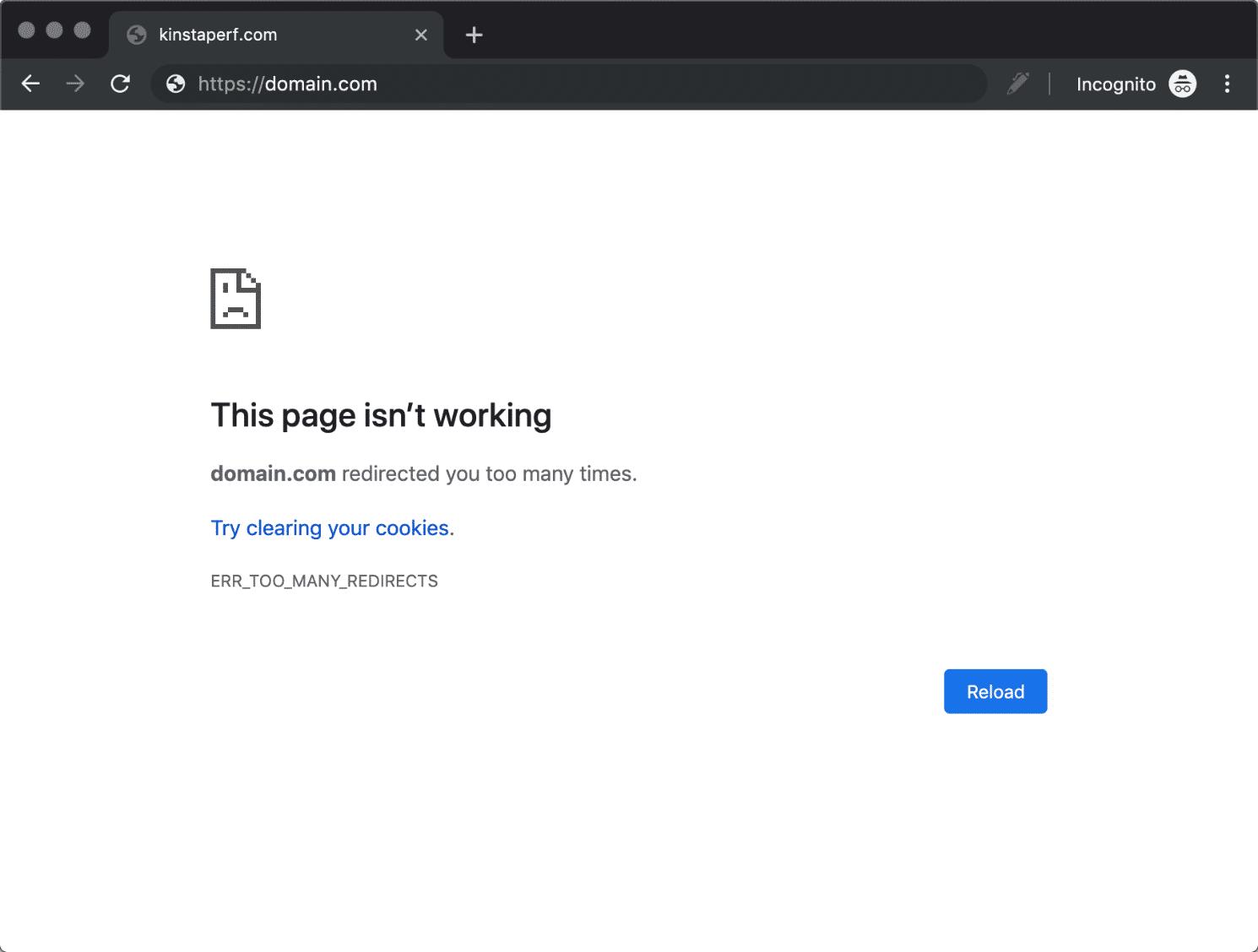 Google ChromeのERR_TOO_MANY_REDIRECTS
