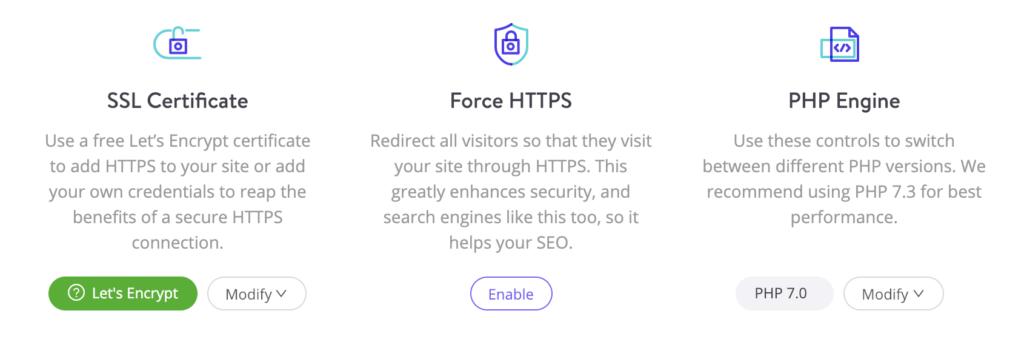 MyKinstaの強制HTTPSツール