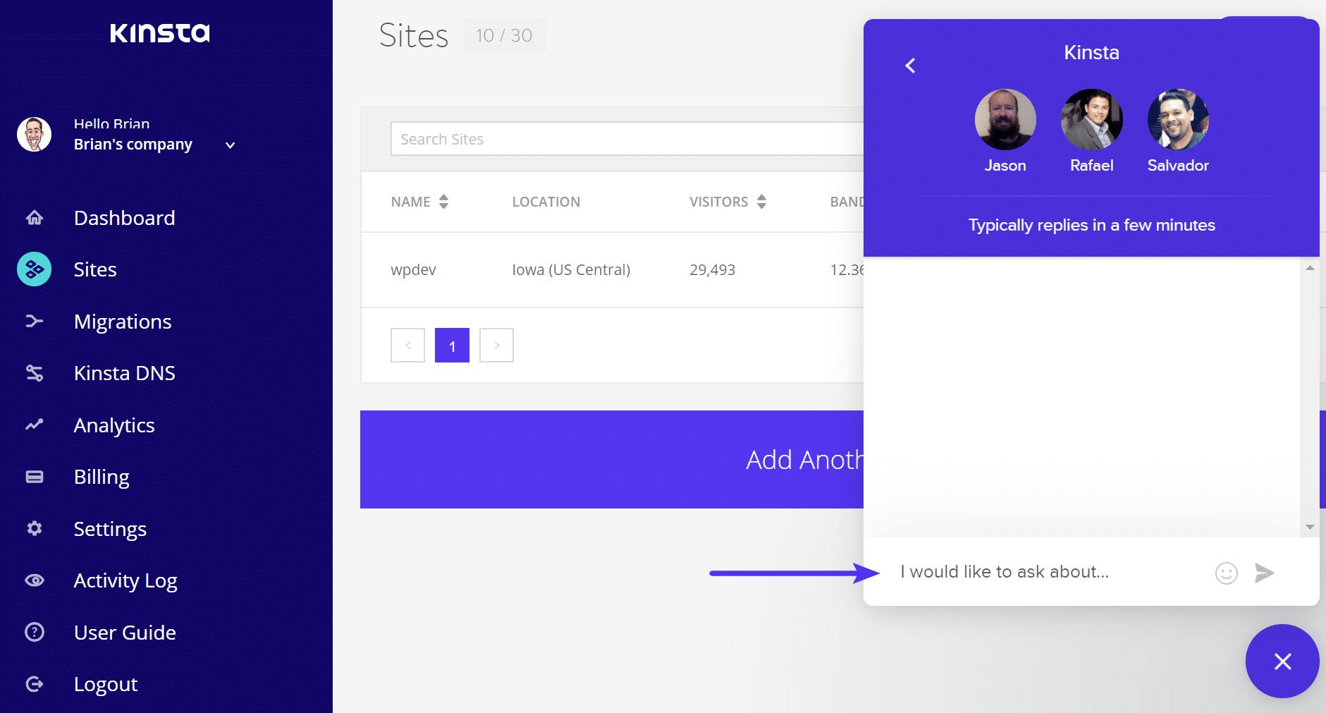 Send WordPress support ticket