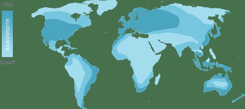 帯域幅の地図