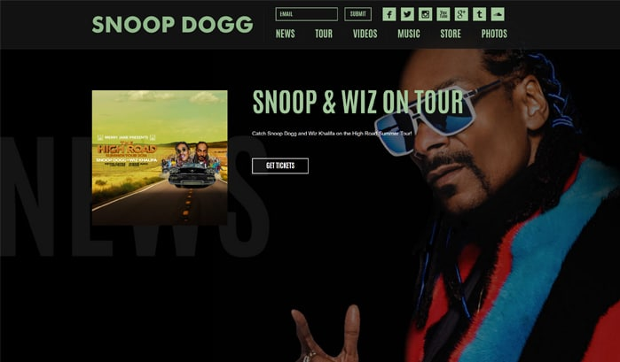 snoop doggのwordpressサイト