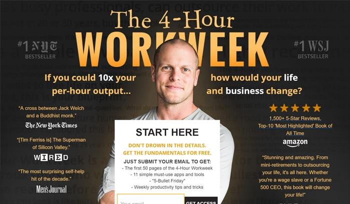 「週4時間」だけ働くのwordpressサイト