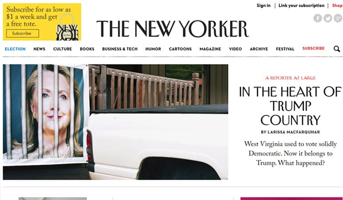 the new yorkerのwordpressサイト