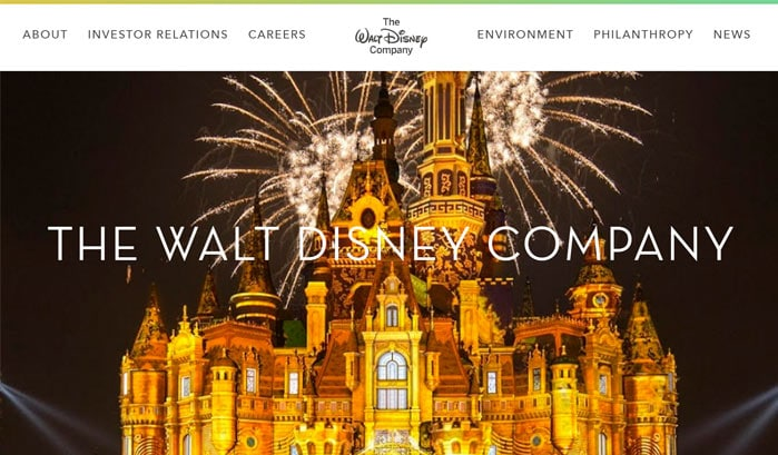 the walt disney companyのwordpressサイト