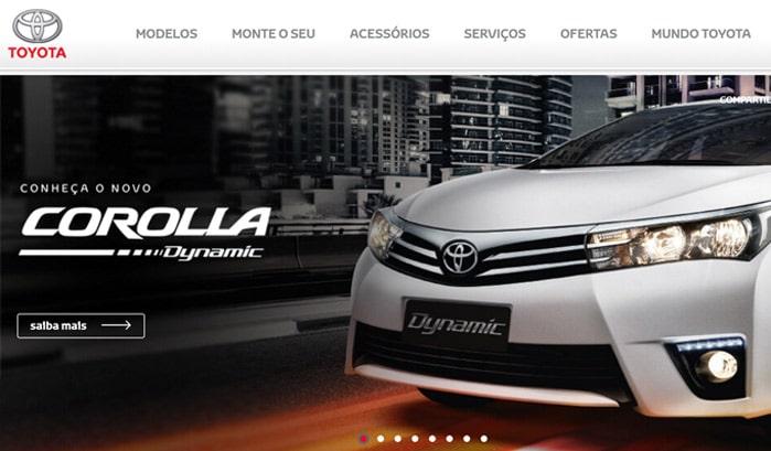 トヨタ自動車のwordpressサイト