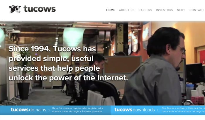 tucowsのwordpressサイト