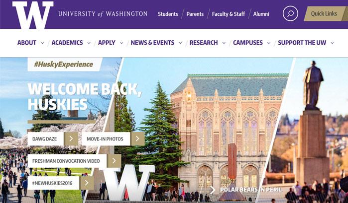 ワシントン大学のwordpressサイト