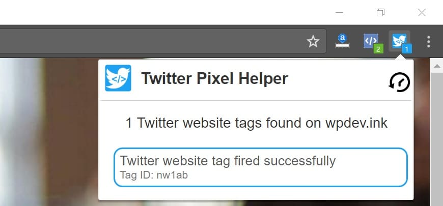 Twitterピクセルヘルパー
