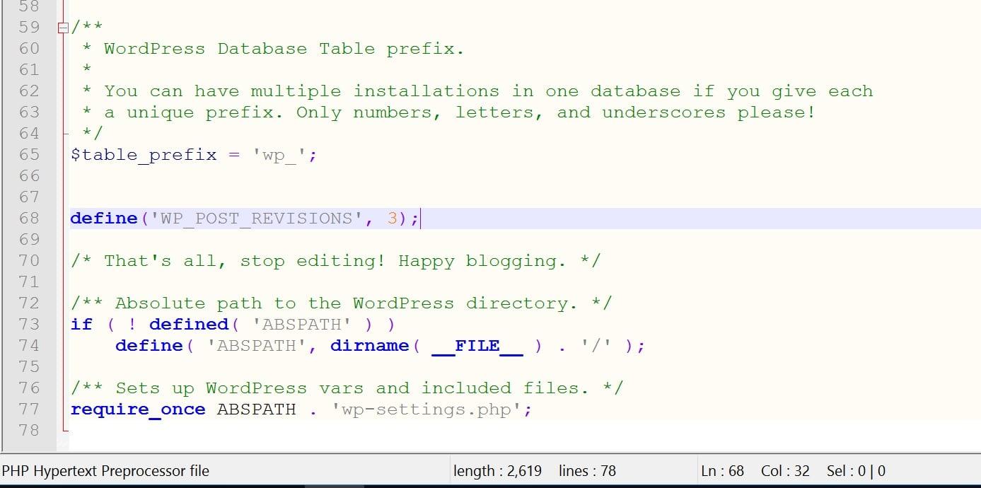 WordPressの投稿のリビジョン